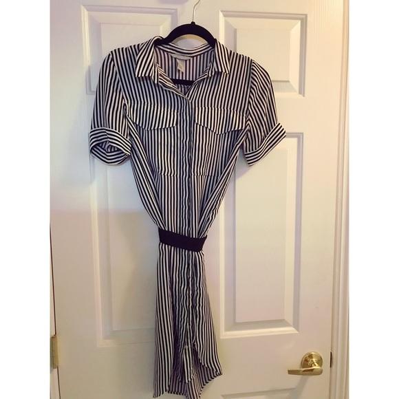 85ad76d72e H&M Dresses | Nwot Hm Striped Shirt Dress W Belt | Poshmark